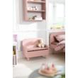 Play tároló pad háttámlával, világos rózsaszín