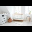 Flexa Baby etetőszék tálcával és biztonsági övvel, fehér