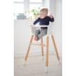 Flexa Baby etetőszék tálcával és biztonsági övvel,  fehér, natúr lábbal