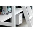 FLEXA NORDIC íróasztal, polccal Nordic galériaágyhoz, fehérre festett