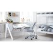 Emeletes ágy, Flexa White 200, fehér leesésgátlóval, nyírfa lábbal