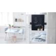 Emeletes ágy, Flexa White 190, fehér leesésgátlóval, nyírfa lábbal