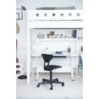Galériaágy, Flexa White 200, fehér, egyenes létrával, világoskék leesésgátlóval