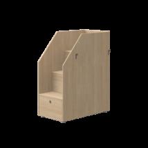 Flexa POPSICLE tölgyfa lépcső tárolóval