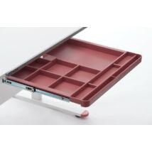 12 rekeszes fiók EVO asztalokhoz piros színben