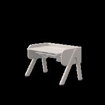 WOODY Állítható magasságú asztal, dönthető asztallappal, szürke színben, szürkére pácolt kerettel