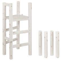 Létra és láb, Classic félmagas galériaágyhoz csúszdával kombinálható, fehér