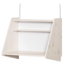 Ágyra szerelhető íróasztal polccal, fehér