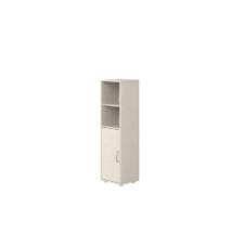 Flexa Classic polcos szekrény, fehérre pácolt fenyővázzal és előlappal