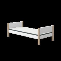 Flexa NOR egyszemélyes ágy 200 fehér, tölgyfa lábbal