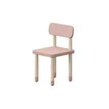 Play szék háttámlával, világos rózsaszín