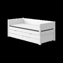 Flexa White alapágy 200, fehér,vendégággal, 2db fiókkal