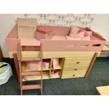 Flexa Popsicle félmagas galéria ágy, ferde létrával cseresznye színben. Hibátlan kiállítási darab!
