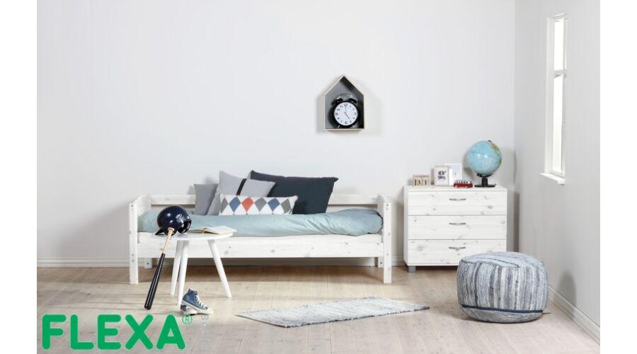 Flexa Basic  ágy  fehérre pácolt