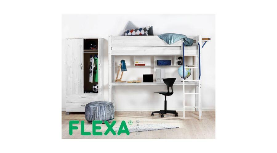 Flexa Basic   galériaágy  fehérre pácolt