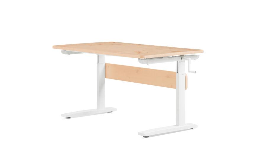 Állítható magasságú asztal, dönthető lappal, fenyő